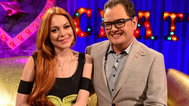 Lindsay Lohan told Alan Carr her last drink was a long time ago (Open Mike)