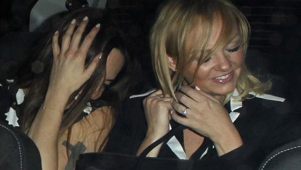 Melanie Chisholm and Emma Bunton helped Victoria Beckham celebrate her 40th birthday (Rex)