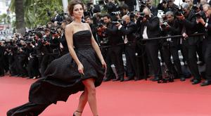 Cheryl Cole swept along the red carpet in Cannes