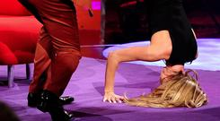 Amanda Holden performed a headstand on Graham Norton's show