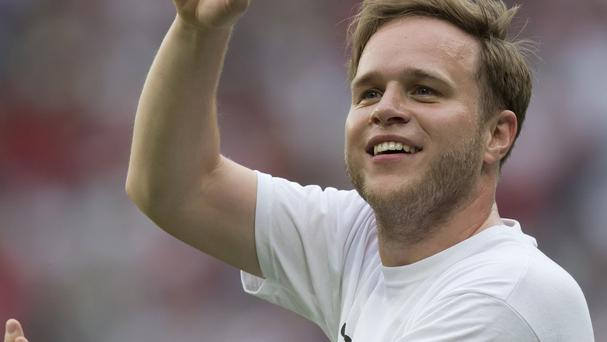Singer Olly Murs played for the England team in Soccer Aid 2014