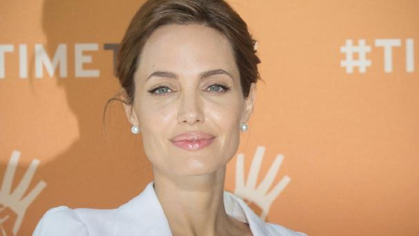 Actress Angelina Jolie is attending a summit in London