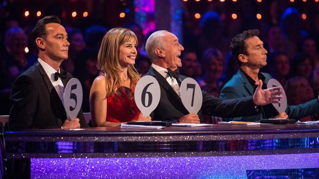Craig Revel Horwood, Darcey Bussell, Len Goodman and Bruno Tonioli on the Strictly panel
