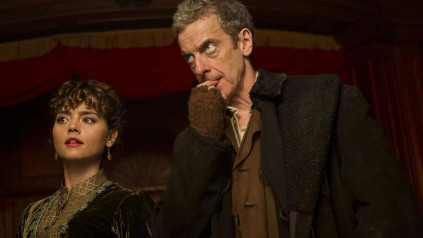 A first look at upcoming Doctor Who episode Deep Breath, starring Peter Capaldi and Jenna Coleman, has been released