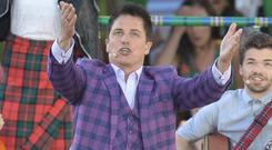 John Barrowman performed at the opening ceremony of the Commonwealth Games