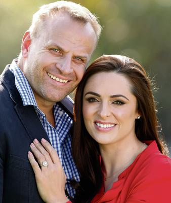 Grainne Seoige and partner Leon Jordaan