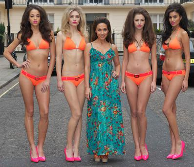 Myleene Klass launches her first swimwear collection for Littlewoods.com, London, 6th March 2013.