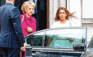 Legal fight: Princess Haya Bint al-Hussein (right) leaves the High Court in London with her lawyer