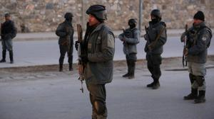 Afghan security forces are investigating the bombing in Pachir-wa Gam district (AP/Rahmat Gul)