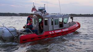 The man was rescued by the US coast guard