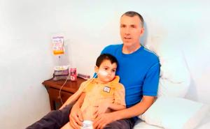 A still from a video posted on YouTube showing Brett King with Ashya, explaning why he took him from hospital without doctors' consent. Photo: Press Association