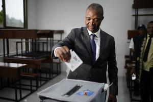 Ruling party presidential candidate Emmanuel Ramazani Shadary (Jerome Delay/AP)