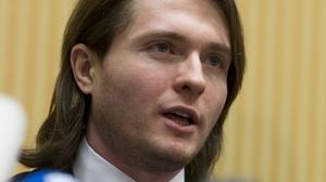 Raffaele Sollecito talks to the media during a press conference in Rome after he was cleared of the murder of Meredith Kercher (AP)