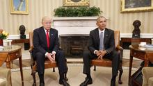 President Barack Obama meets with President-elect Donald Trump in the Oval Office.(AP/Pablo Martinez Monsivais)