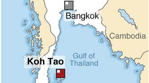 The bodies of two British tourists have been found on a beach in southern Thailand, police said