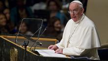 Pope Francis addresses the United Nations General Assembly (AP)