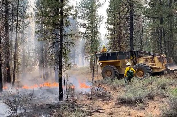 Meteorologists have predicted critically dangerous fire weather at least until Monday (Bootleg Fire Incident Command via AP)