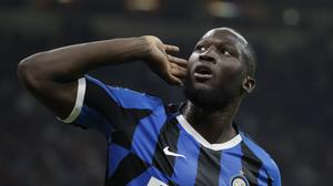 "FILE – In this Saturday, Sept.21, 2019 file photo, Inter Milan's Romelu Lukaku celebrates after scoring during a Serie A soccer match between AC Milan and Inter Milan, at the San Siro stadium in Milan, Italy. The Italian soccer federation is considering employing an advanced listening device used in anti-terrorism operations to identify fans who sing racist chants. Federation president Gabriele Gravina has detailed ""a passive radar device that uses directional microphones to determine the source of the noise."" (AP Photo/Luca Bruno, File)"