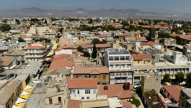 General view of Nicosia in Cyprus including the Selimiye Mosque (Andrew Matthews/PA)