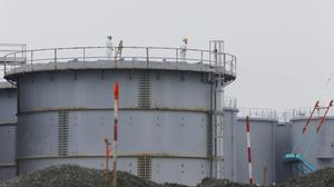 A worker at Japan's Fukushima nuclear power plant has died after falling into a water storage tank (AP)