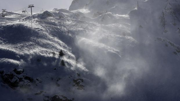 The Lavachet Wall at the Tignes ski resort in the French Alps, where an avalanche struck on Tuesday (AP Photo/Luca Bruno, File)