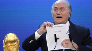 Fifa president Sepp Blatter announced Qatar would host the 2022  World Cup back in 2010 (AP)