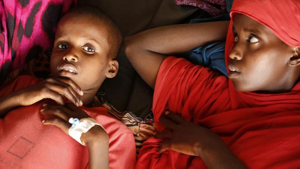 Malnourished children at a camp in Baidoa, Somalia, which has been hit by drought