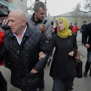 Zubeidat Tsarnaeva, mother of Tamerlan and Dzhokhar Tsarnaev, near her home in Makhachkala, Dagestan, southern Russia (AP)