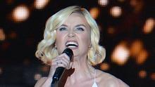 Russian singer Polina Gagarina endured boos while performing the song A Million Voices during the final of the Eurovision Song Contest (AP)