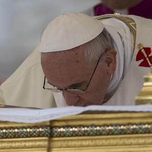 Pope Francis celebrates a feast day in Rome (AP)
