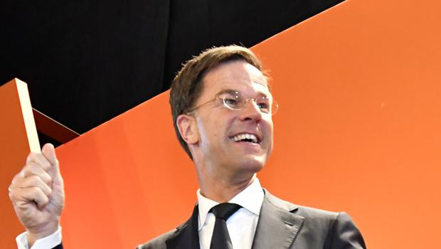 Mark Rutte said the coalition could include four parties (AP)