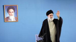 """Iran's supreme leader Ayatollah Ali Khamenei has said the west """"can not and will not"""" bring his country to its knees on the nuclear issue (AP)"""