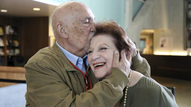 Cildhood Holocaust survivors Simon Gronowski and Alice Gerstel Weit. (Reed Saxon/AP)
