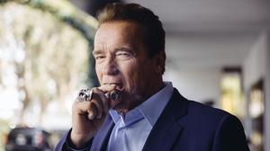 He's back - Arnie promotes the new Terminator: Genisys film (Invision/AP)