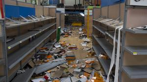 A Wal-Mart store that was damaged and then looted after the passing of Hurricane Odile in Mexico (AP)