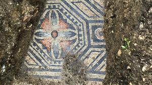 A view of the uncovered mosaic (AP)
