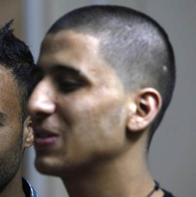 Ayman al-Sayed, 19, says he was grabbed by Hamas police in a sweep along with other young men with long or gel-styled spiky hair (AP)