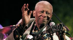 An 86-year-old BB King thrills fans in 2012 (AP)