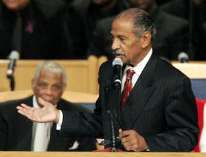 Mr Conyers was in US congress for more than 50 years (AP)