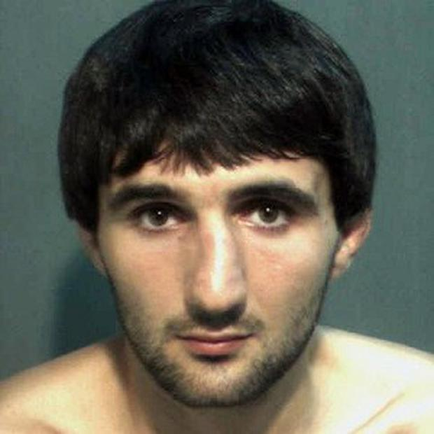 Ibragim Todashev after his arrest for aggravated battery in Orlando (AP/Orange County Corrections Department)