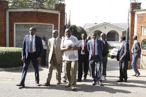Mr Musyoka had been protected by private security officers (AP)