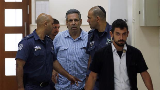 A former Israeli cabinet minister has been jailed for spying for Iran (Ronen Zvulun/AP)