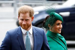 Relocated to California: Britain's Prince Harry and wife Meghan in London earlier this month. Photo: Reuters