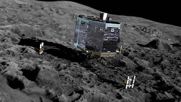 Philae got back in contact with scientists at the weekend (Rosetta Project)