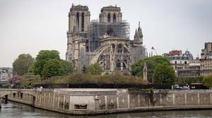 The Notre Dame Cathedral in Paris following the fire (Victoria Jones/PA)