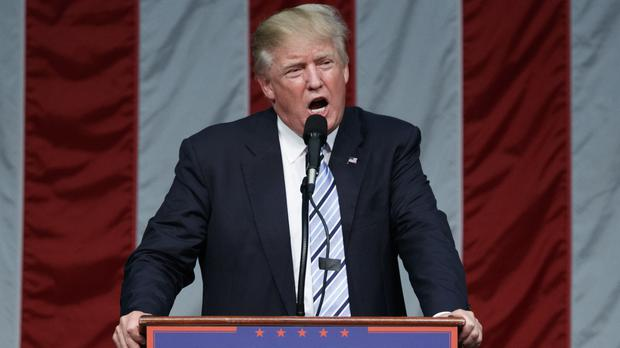 Republican presidential candidate Donald Trump has hit out at the media (AP)