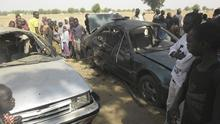 Crowds gather at the site of the attack in Potiskum, Nigeria. (AP)