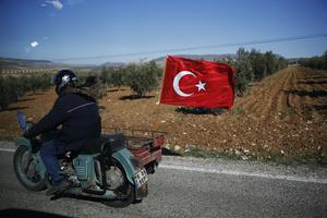 Turkey launched a military offensive against Afrin on January 20 (AP)