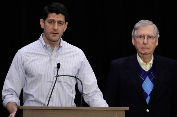 House Speaker Paul Ryan and Senate Majority Leader Mitch McConnell were both attacked by Trump on Twitter. Photo: AP