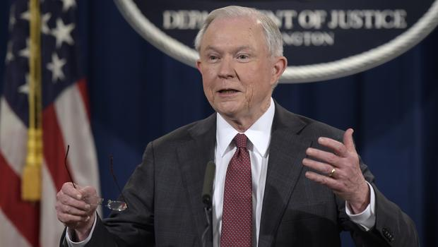 Jeff Sessions has recused himself from any probe into communications between Donald Trump's aides and Moscow (AP)